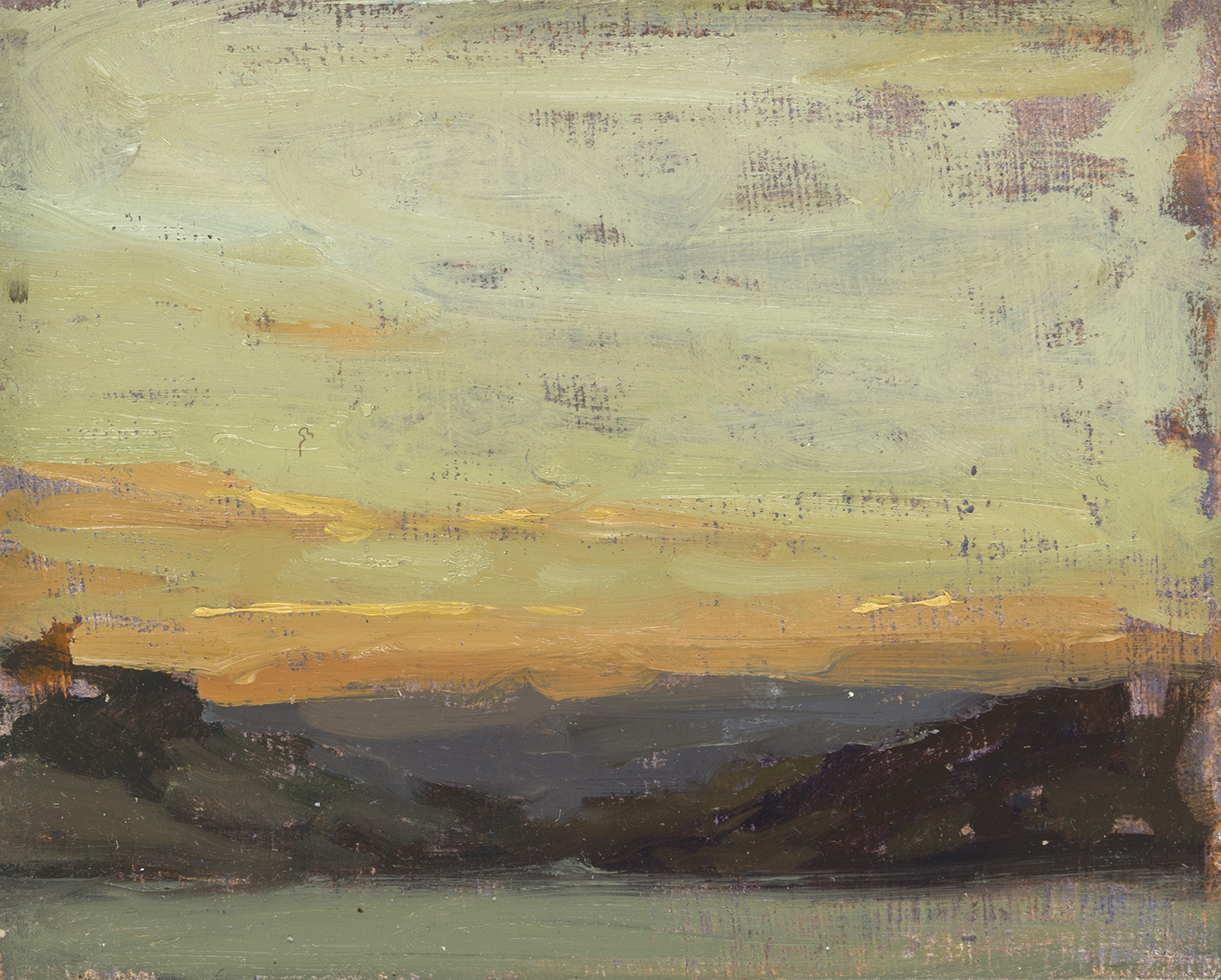 """Troia Evening, Portugal (Plein Air)"" - 4 x 5 in. - Oil on Panel"