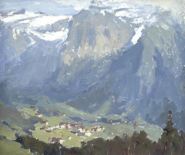 """Above Engelberg, Switzerland"" - 4 x 5 in. - Oil on Panel"