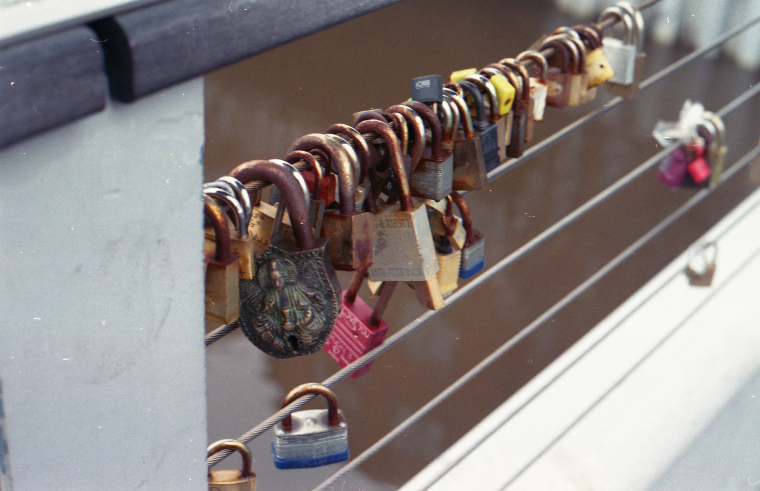 5/366 - Padlocks on the bridge across the canal in Leeds