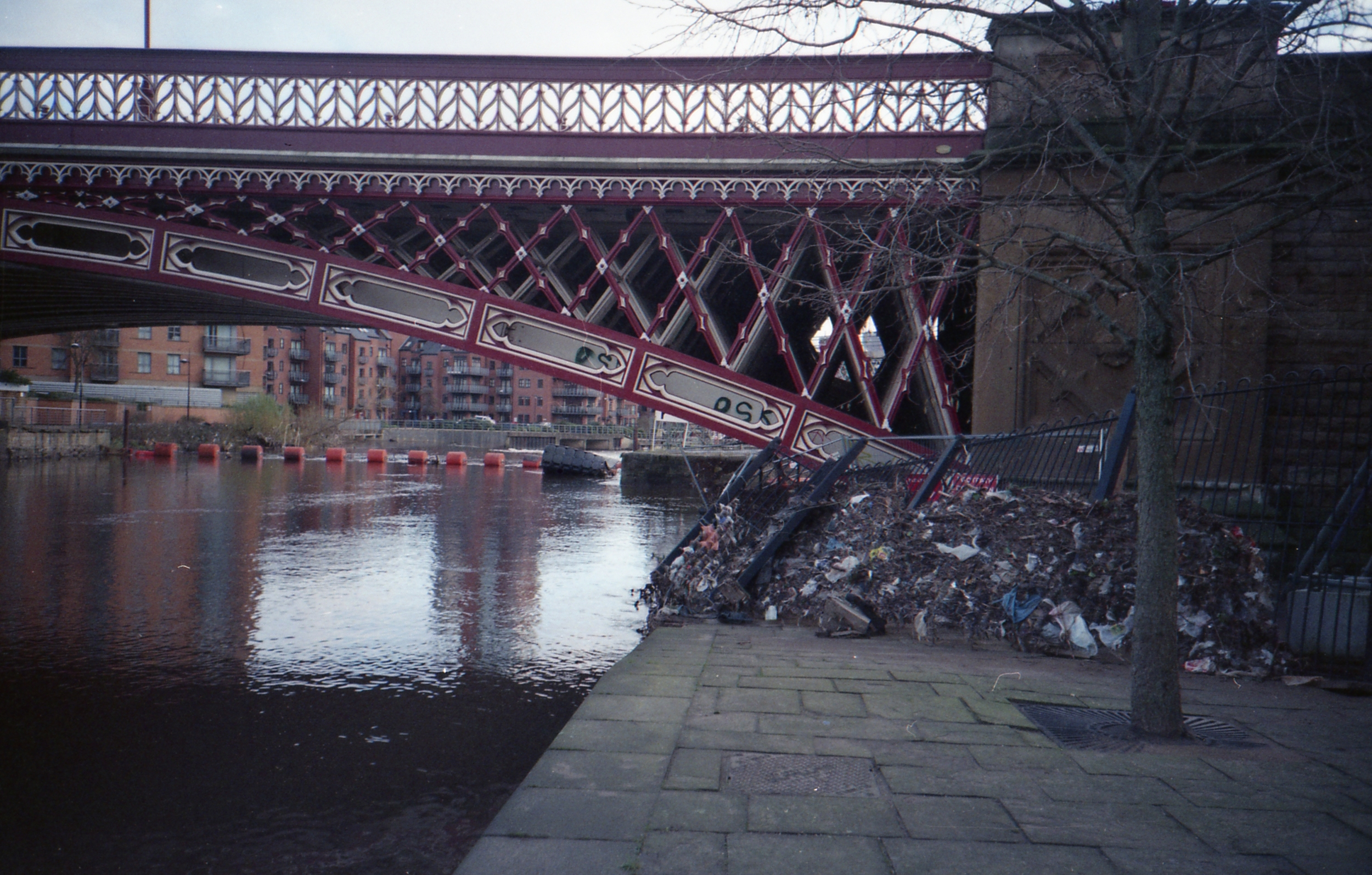 12/366 - Some of the damage from the Boxing Day floods in Leeds along the canal