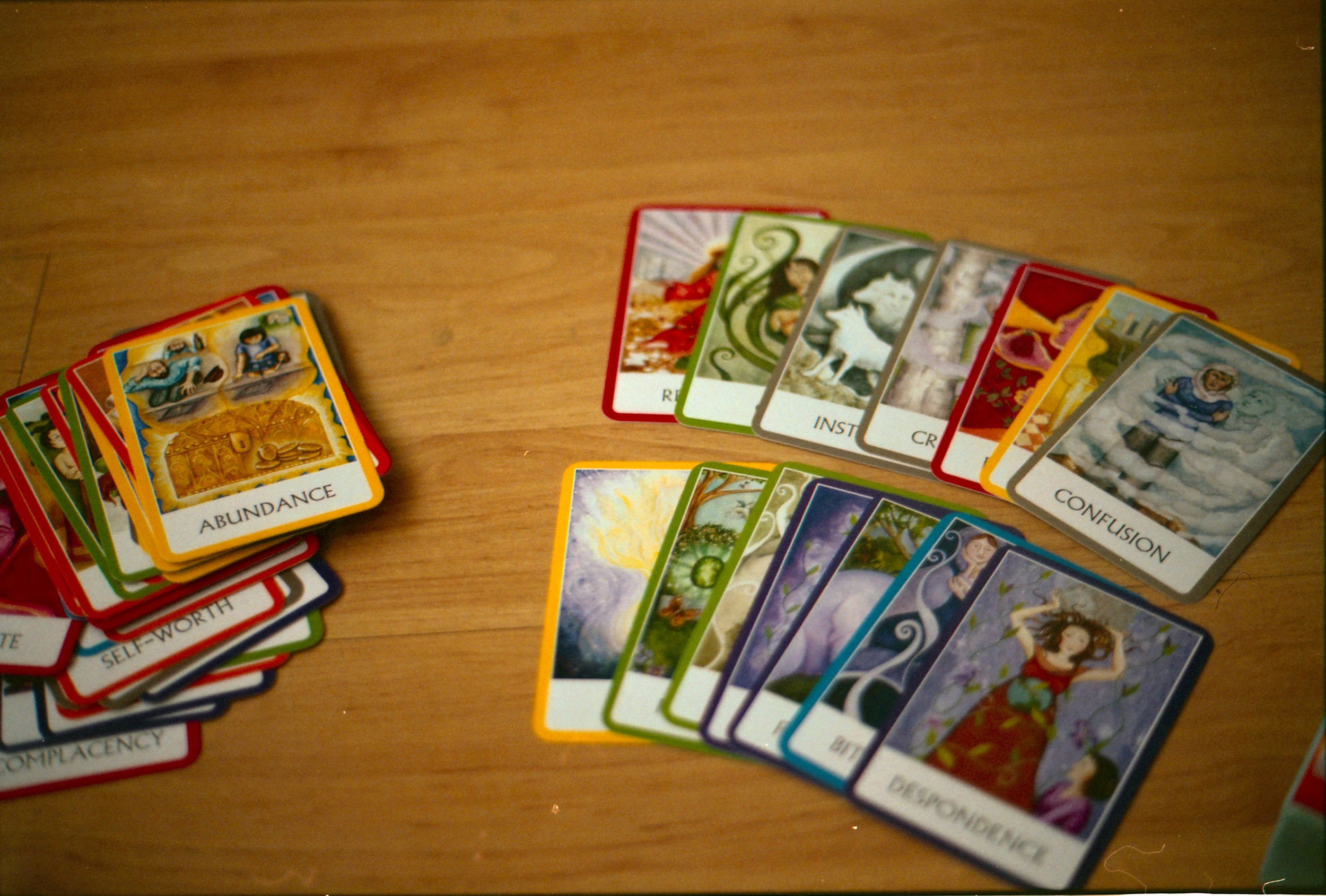 44/366 My newest interest, oracle and tarot cards, aren't there so pretty and colourful?