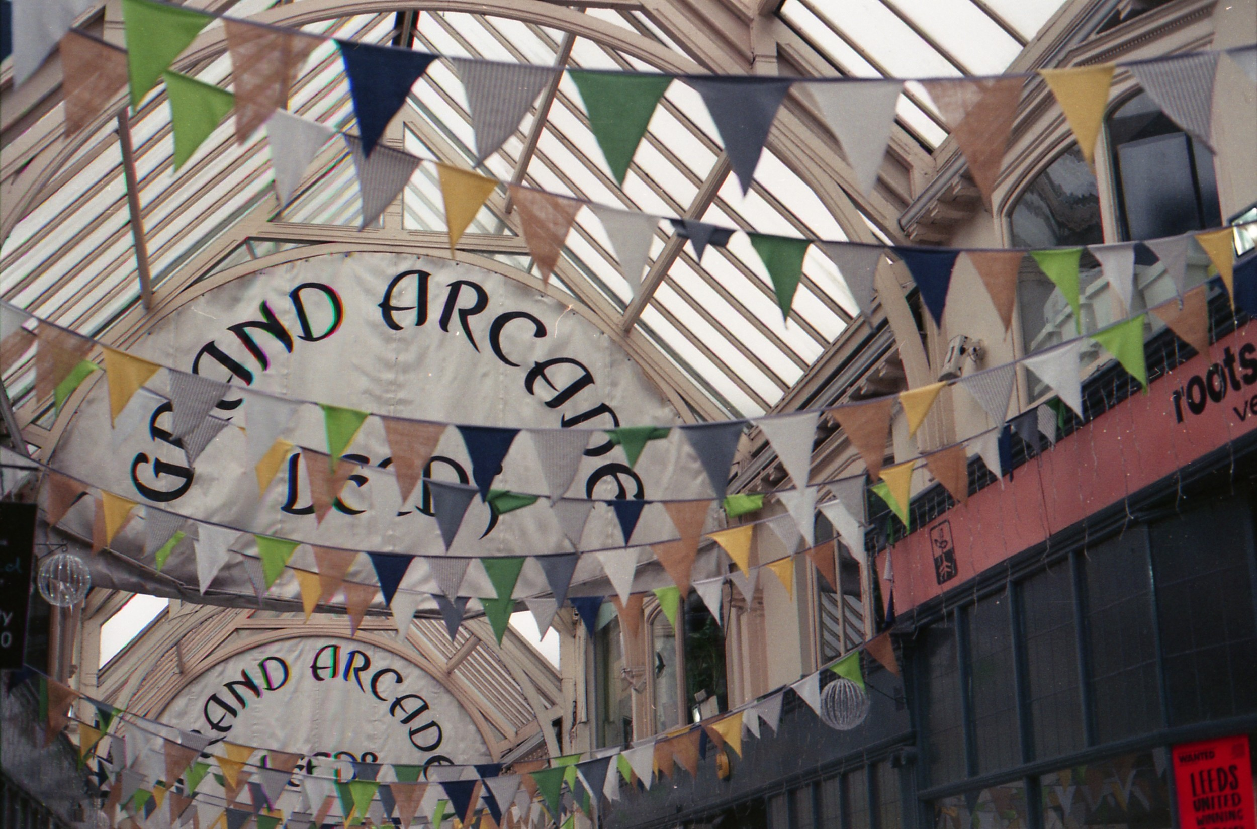 69/366 - The Grand Arcade in Leeds, it looks so happy with all the bunting.