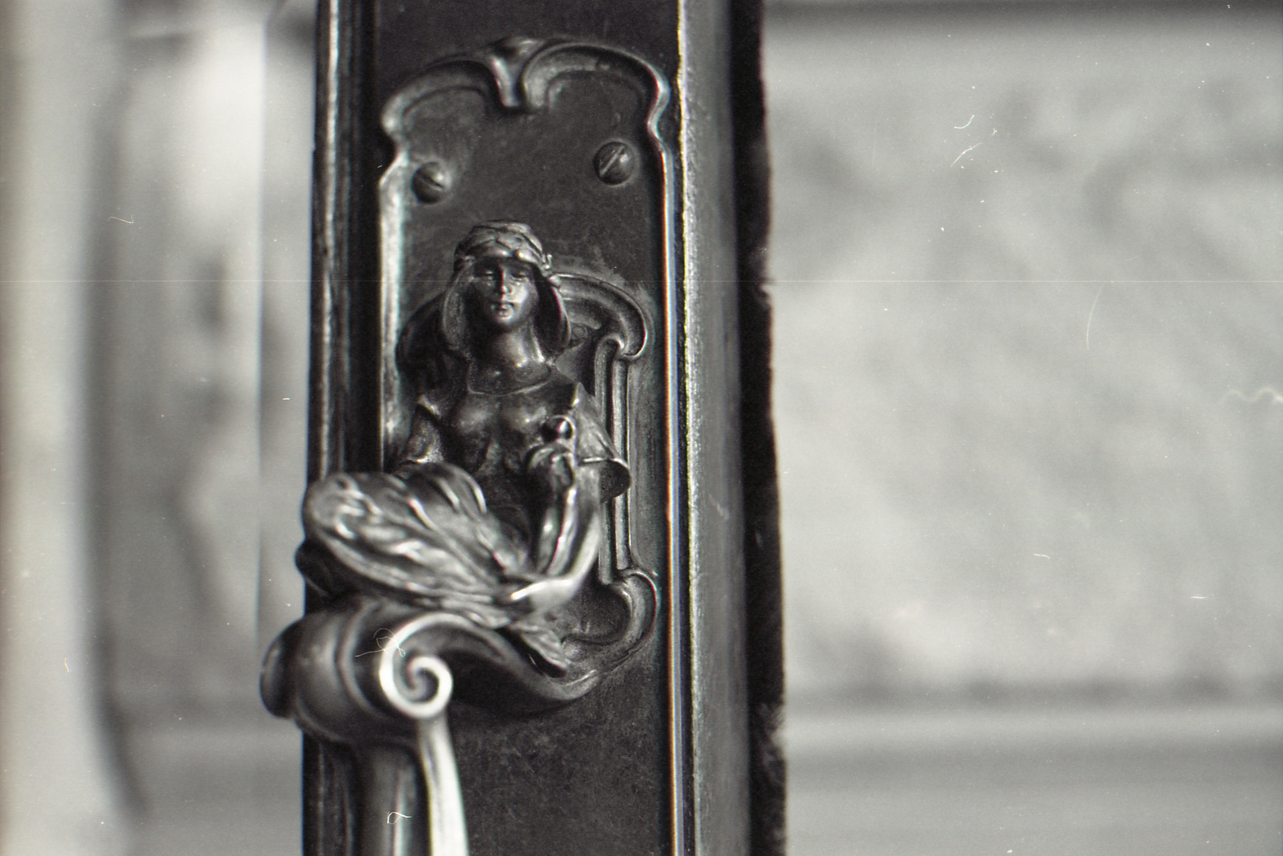 Day 98 - A door handle at Cartwright Hall in Bradford. I'm so drawn to the small details at the moment, the things other people might not even see. Also the hall is lovely, you should go if you can!
