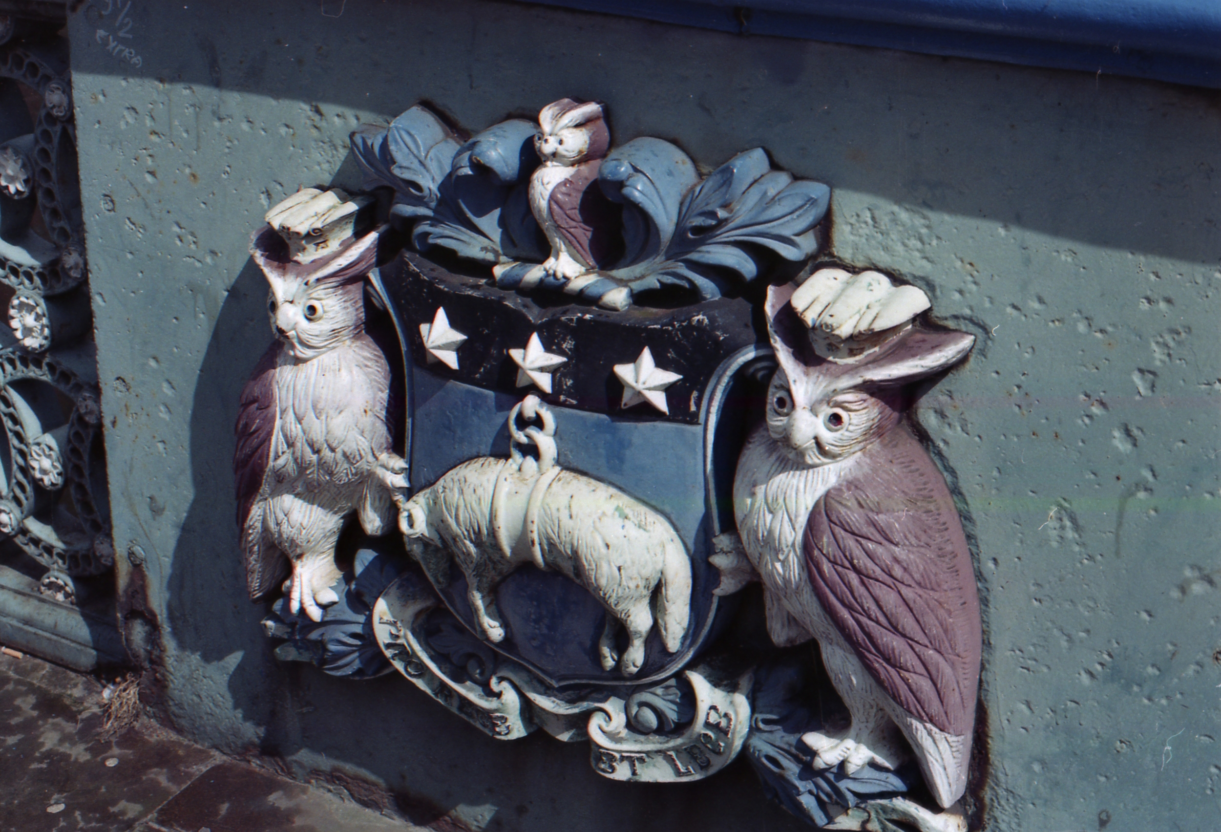 Day 117 - Owls are a thing in Leeds. These are on a bridge I cross everyday to work.