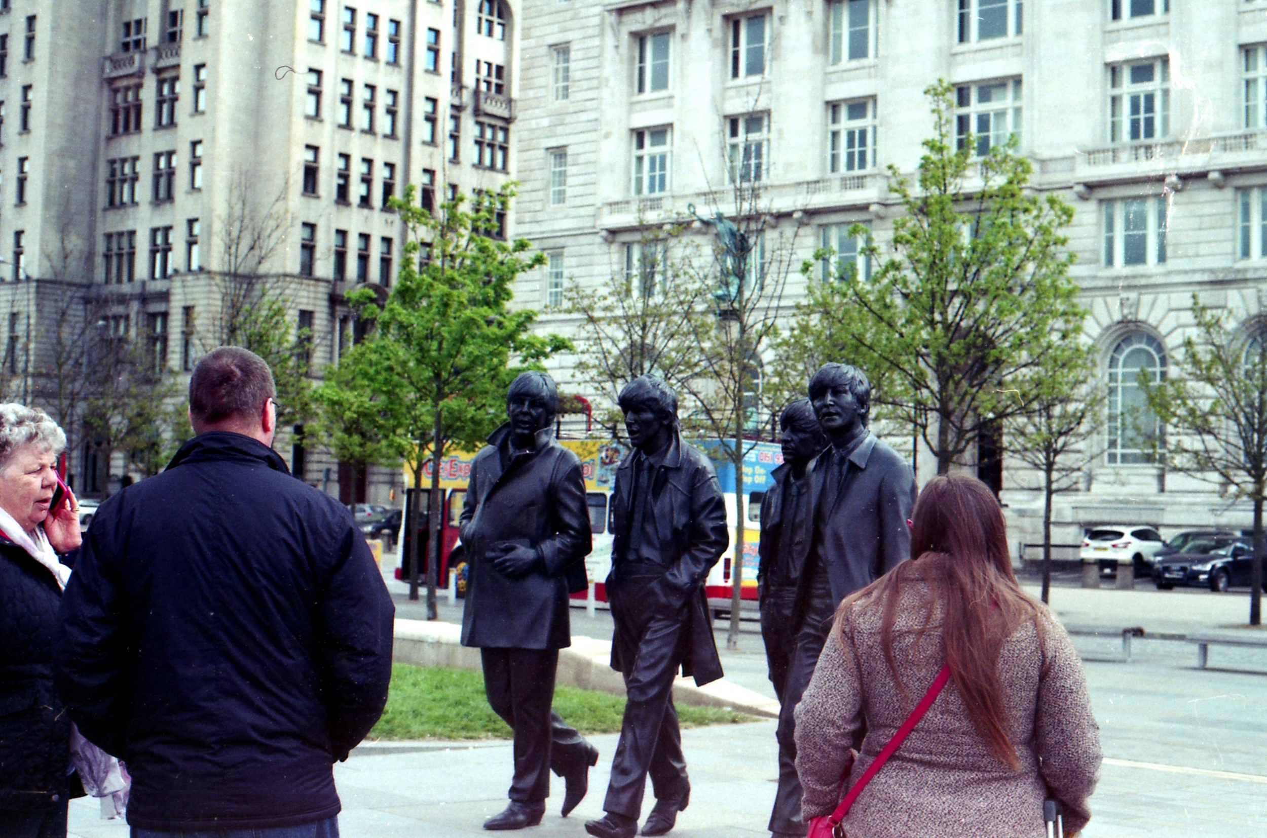 137/366 - As we went to Everton on day 136 we spent the night in Liverpool and did a little bit of sight seeing on day 137. I patiently waited a while for people to move away from The Beatles but after realising that there would always be people around them I decided to include them in the photo. I think I like it.