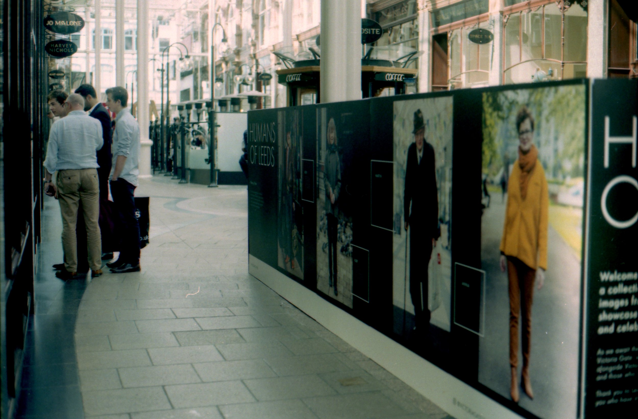 237/366 - I popped into the Victoria Quarter to look at the Human of Leeds exhibition there - I'm starting to see a pattern of out of focus photos when I don't quite feel comfortable in a location and I rush the shot. This is definitely something to work on over the last third of this project.