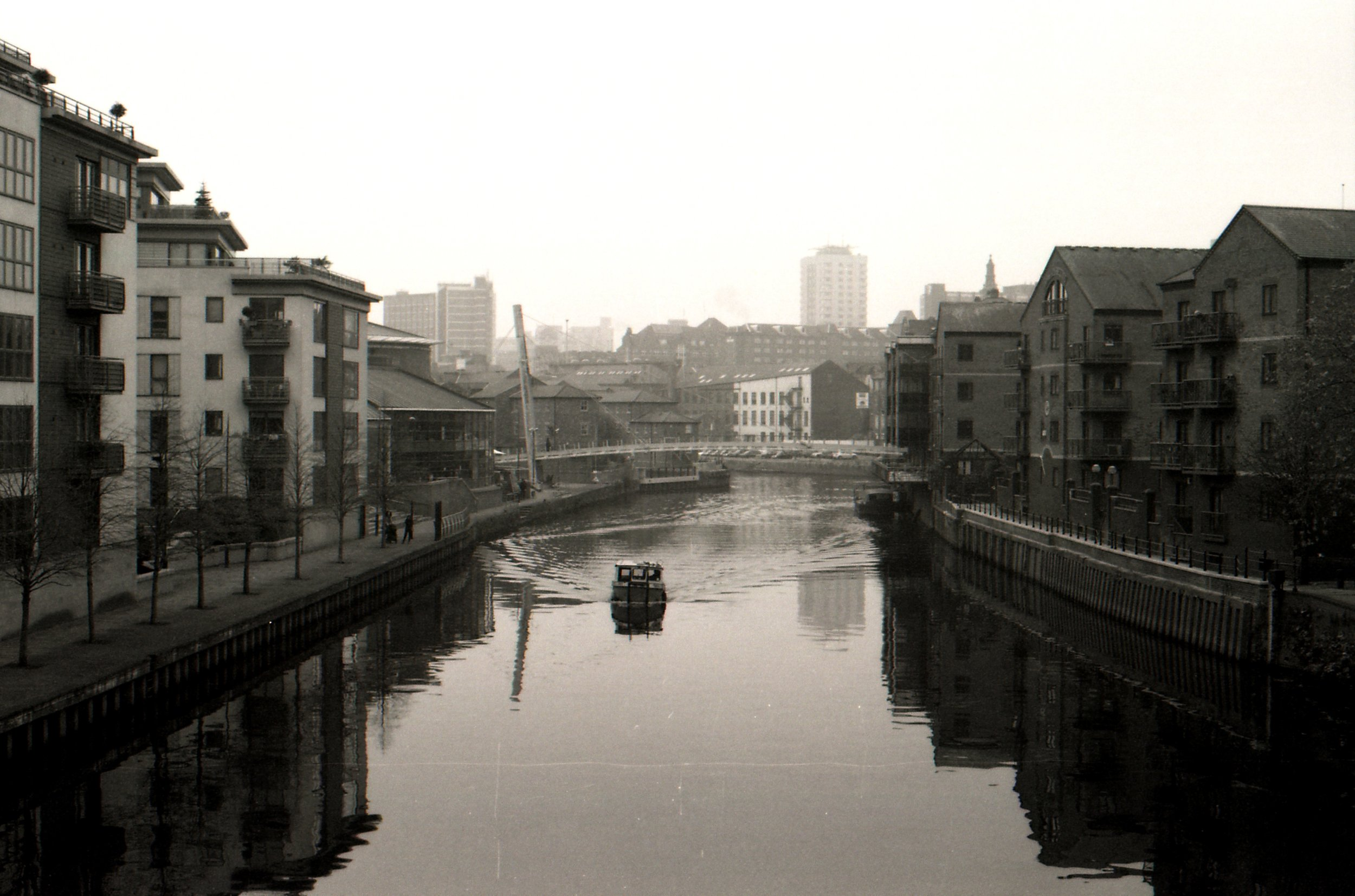 341/366/2016 - The free canal boat again but from a different angle. I love Leeds on a misty day.