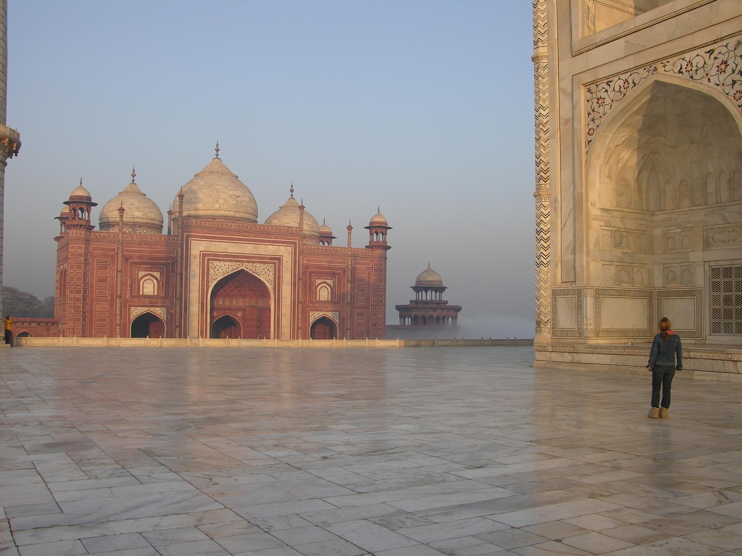 Exploring the Taj Mahal Photo credit: Sanjay Chatterji