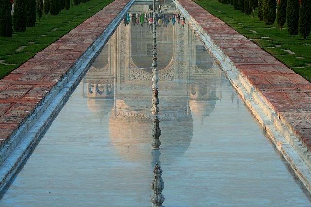 Reflection of the Taj Photo credit: Sanjay Chatterji