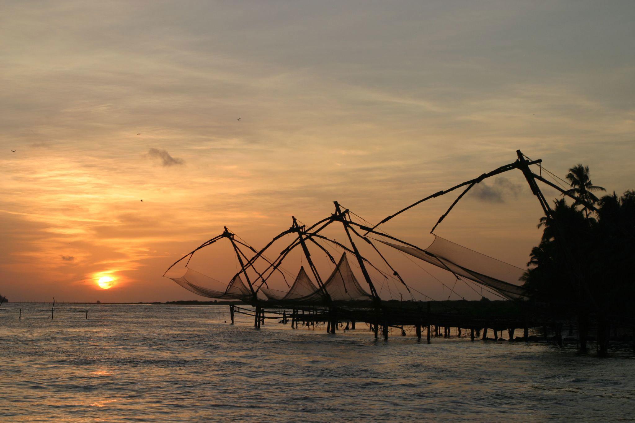 Chinese fishing nets at Cochin Photo credit:  Brian Snelson