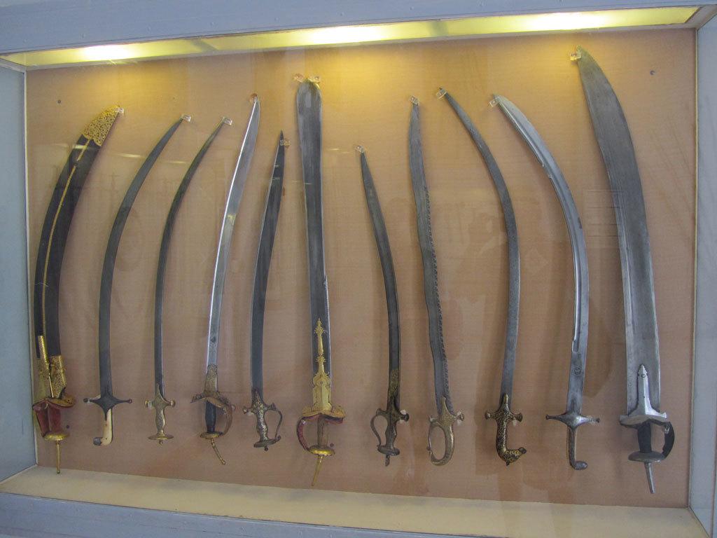 Antique weaponry on display at Mehrangarh Fort, Jodhpur Photo credit: Rustom Katrak