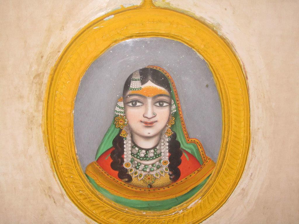 Rajasthani painting, Jaipur Photo credit: Rustom Katrak