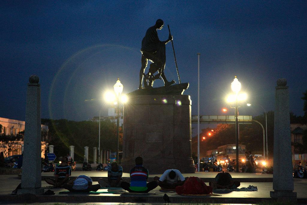 Gandhi statue at Marina Beach, Chennai Photo credit:  Vinoth Chandar