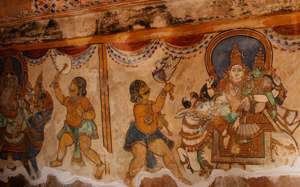 Mural at Brihadeeswara Temple, Tanjore Photo credit:  Nagarjun Kandukuru