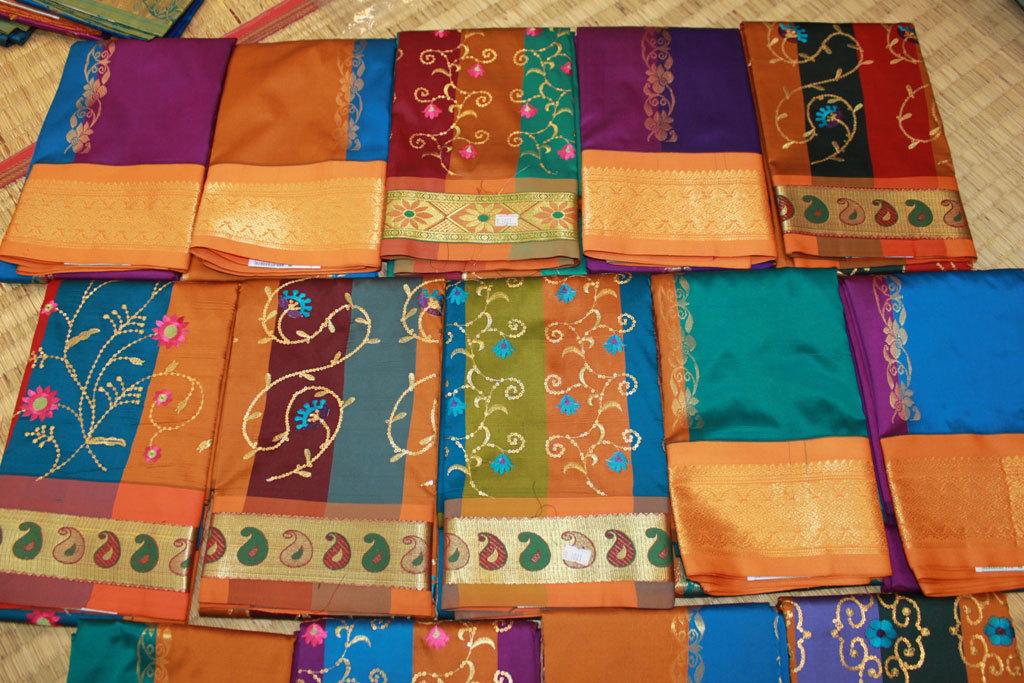 Kanchipuram saris Photo credit:  Kamal Venkit