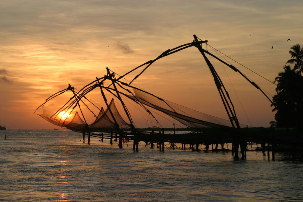 Fishing nets at Cochin Photo credit:  Brian Snelson