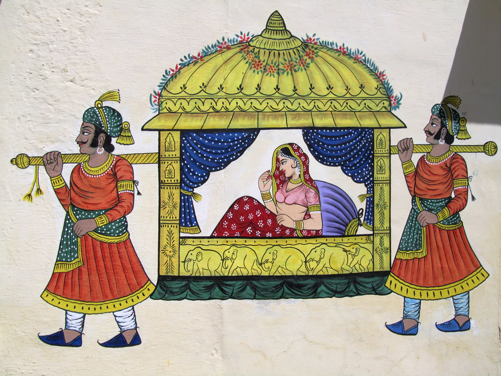 Rajasthani painting, Udaipur   Photo credit: Rustom Katrak