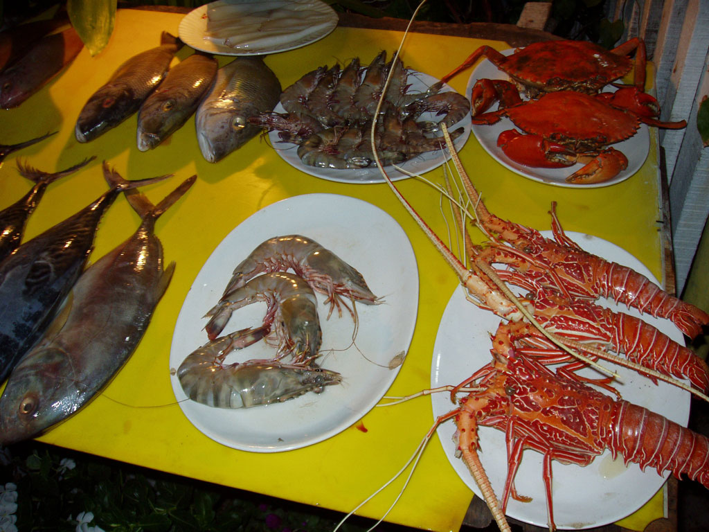 Seafood is a specialty in Kerala Photo credit:  Stan Dalone & Miran Rijavek