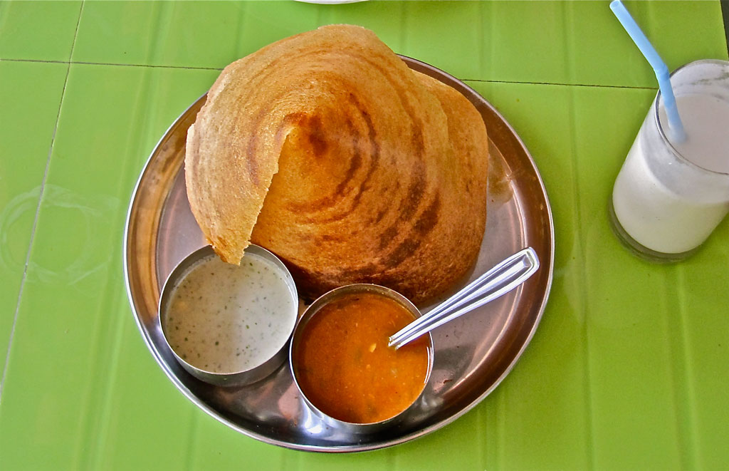 The dosa is extremely popular all across South India Photo credit:  ideowl