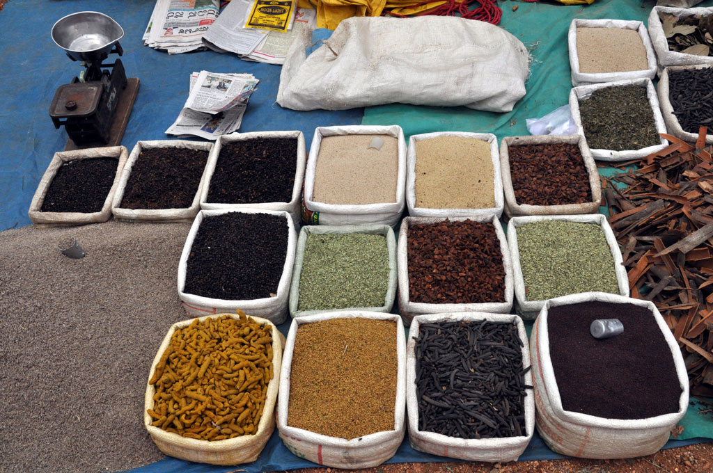 Spices for sale Photo credit:  Hari Prasad Nadig
