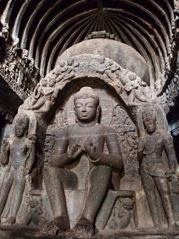 Buddha statue at Ajanta Photo credit:  Kunal Mukherjee