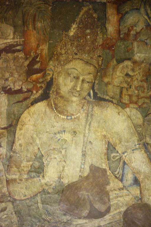 Bodhisattva Padmapani, Ajanta (detail) Photo credit:  Arian Zwegers