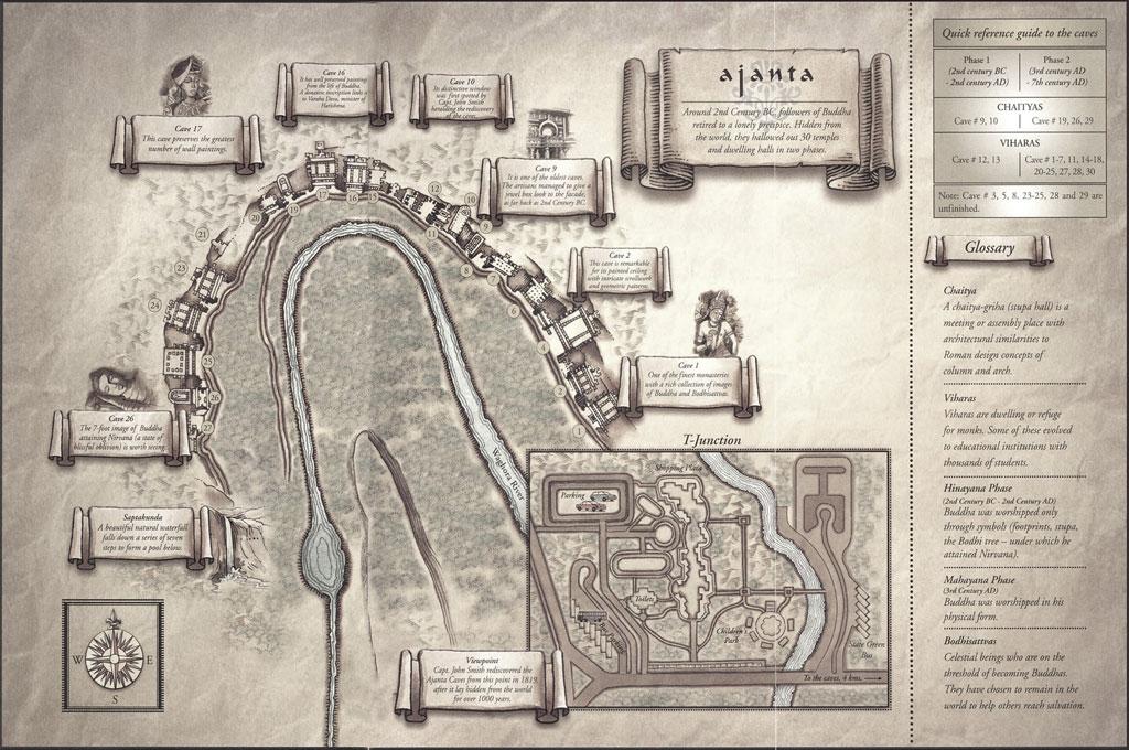 Map of the Ajanta caves Photo credit:  nevil zaveri