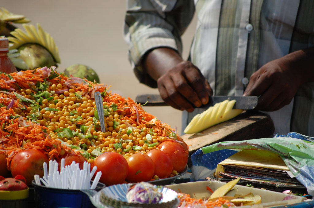 Chaat , typical Indian street food Photo credit:  Loic Schulé