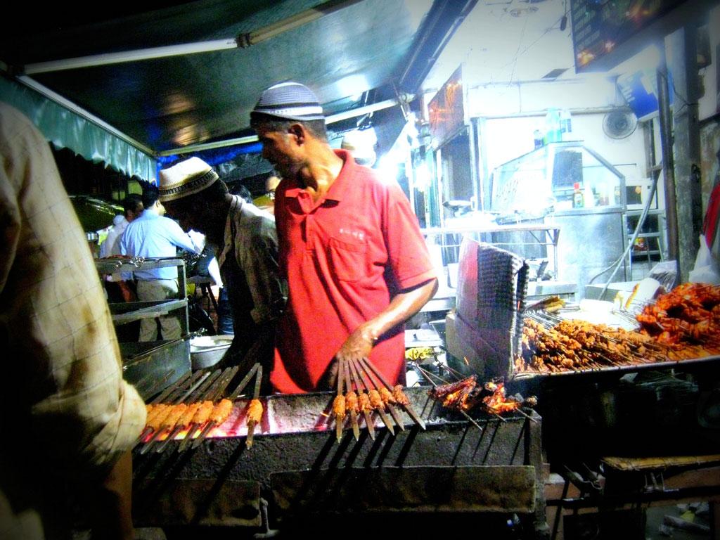Kebabs being prepared Photo credit:  meenakshi madhavan