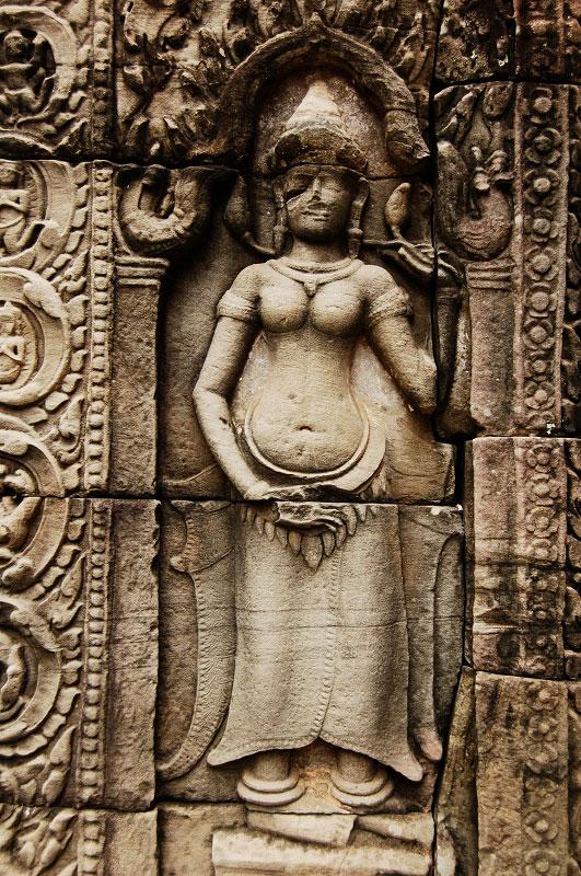 Sculpture at Angkor Wat Photo credit: Teresa Qin