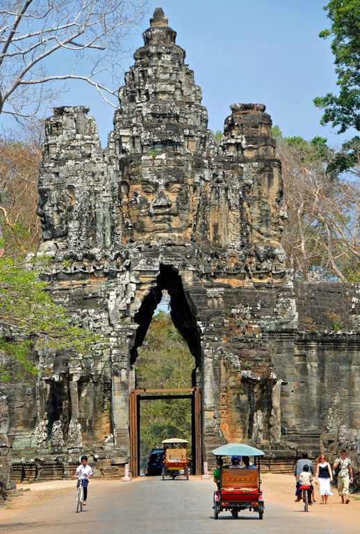Gateway to Angkor Thom Photo credit:  Dennis Jarvis