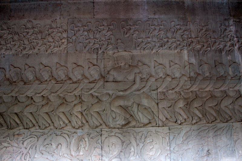 Carvings at Angkor Wat Photo credit: Christian Haugen