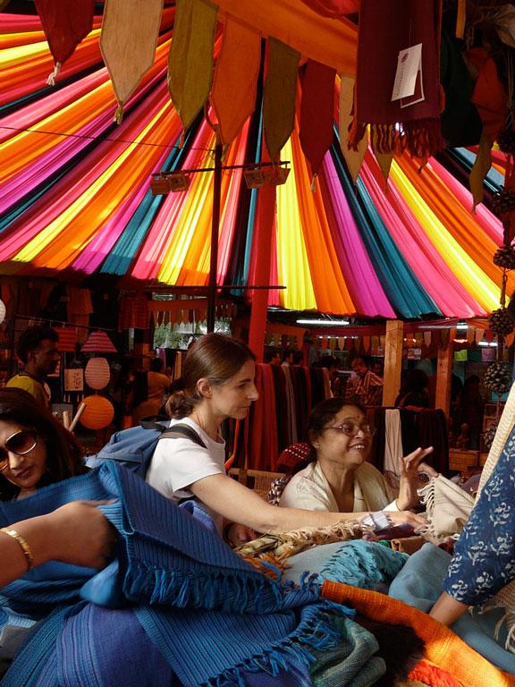 Shopping at Dilli Haat, Delhi Photo credit:  Varun Shiv Kapur