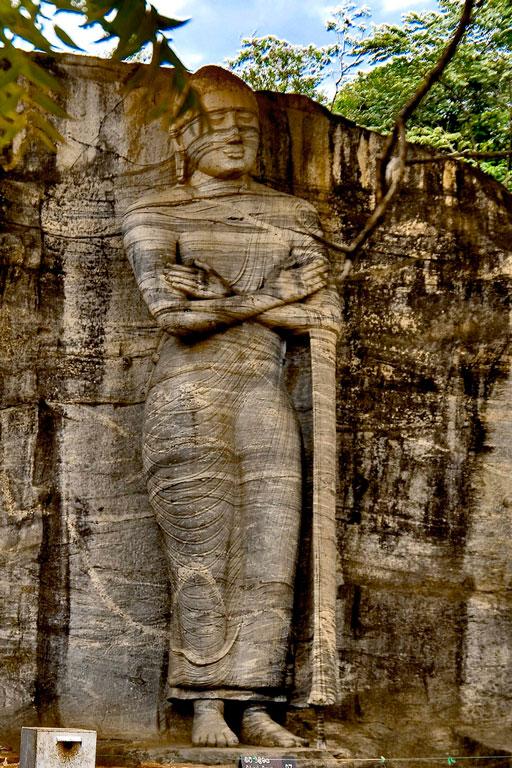 Standing Buddha, Polonnaruwa Photo credit:  Hafiz Issadeen