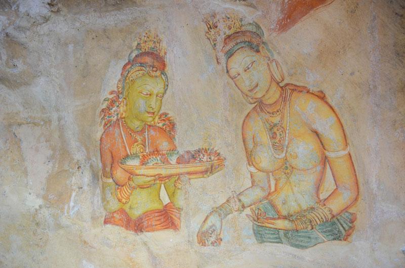 Frescoes at Sigiriya Photo credit:  Fabien Fivaz