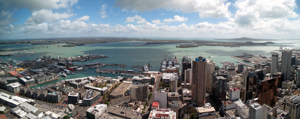 View from the Sky Tower, Auckland Photo credit:  Robert Linsdell