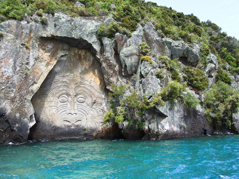 Maori rock carvings at Lake Taupo Photo credit:  Abaconda Management Group