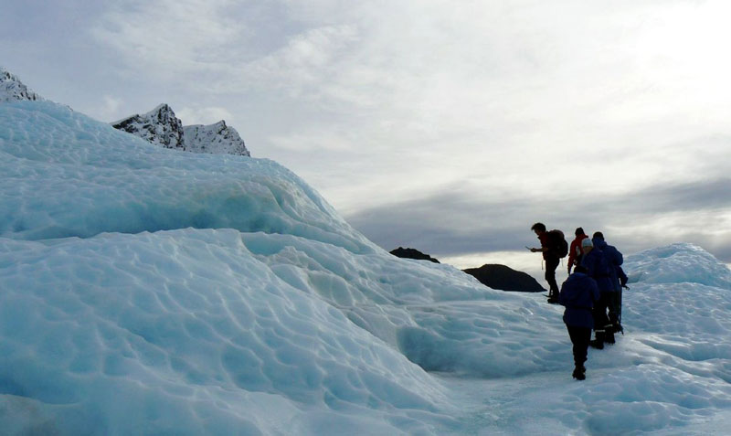 Hiking the glacier Photo credit:  Nick Bramhall