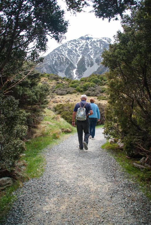 Walking at the foothills of Mount Cook Photo credit:  Jocelyn Kinghorn