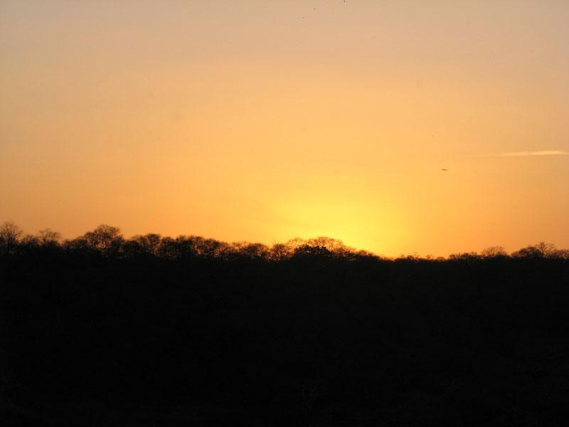 Sunset at Ranthambore Fort Photo credit:  Devesh Jagatram