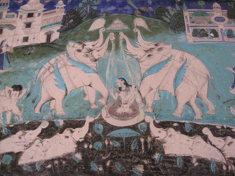 Rajasthani painting, Bundi Photo credit:  taylorandayumi