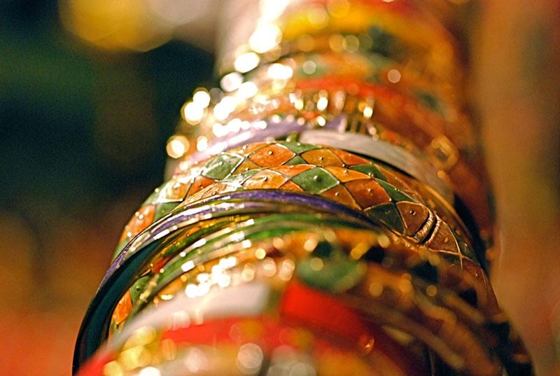 Indian bracelets Photo credit:  Mo Riza
