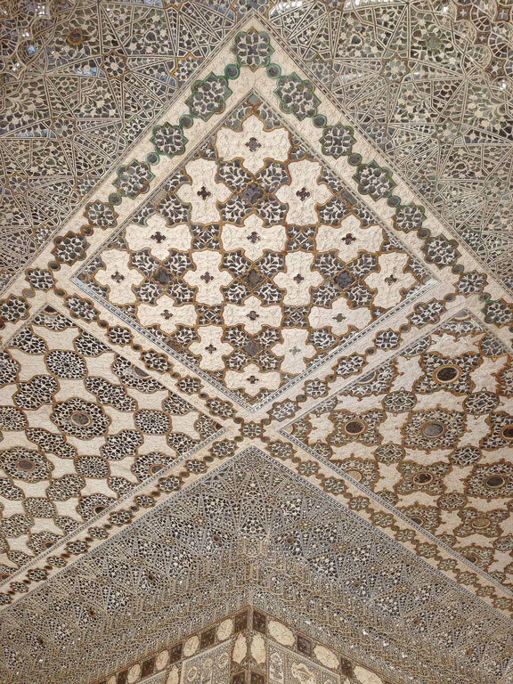 Inlay work with gem stones, marble and sandstone at Amber Fort, Jaipur Photo credit:  C.K. Tse