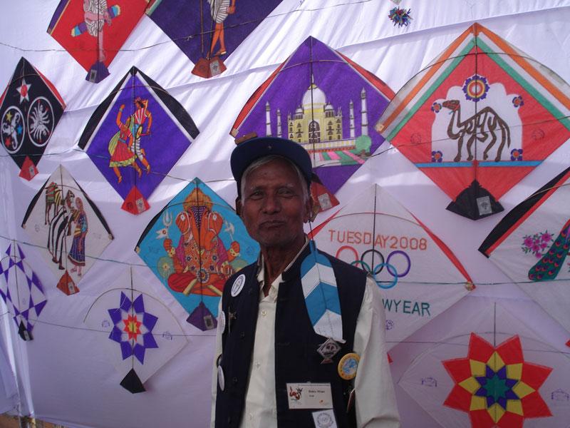 Babu Khan and his artful, colourful kites Photo courtesy Ajay Prakash