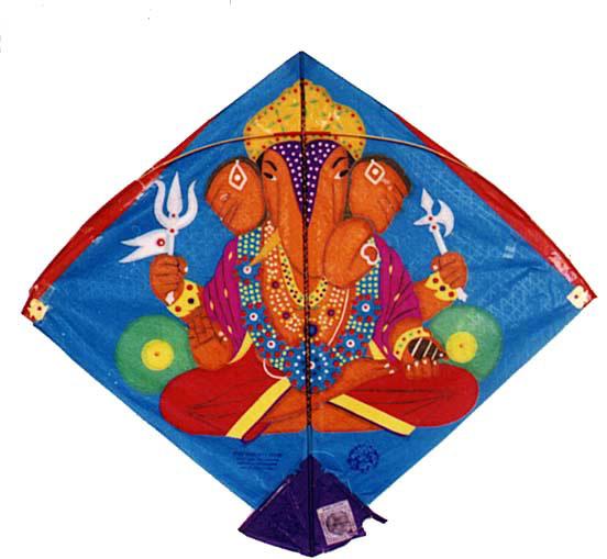 An intricate Ganesha kite by Babu Khan   Photo courtesy Ajay Prakash