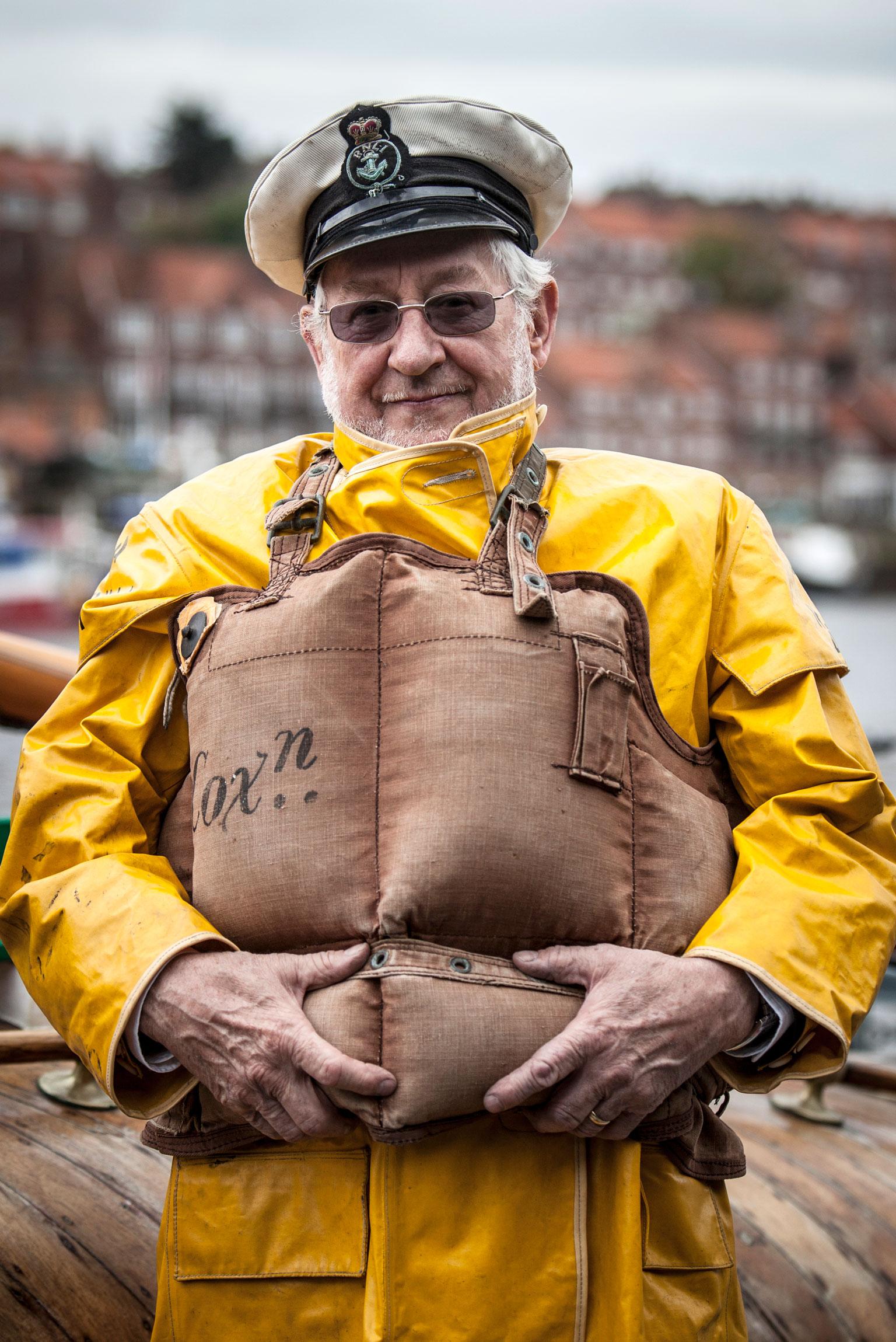 Pete Thompson, MBE. Ex Coxswain, Whitby Lifeboat.