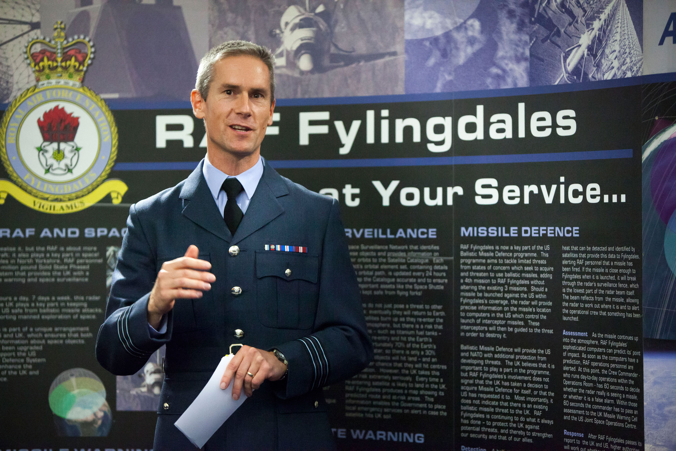Wing Commander Dave Keighley MA.