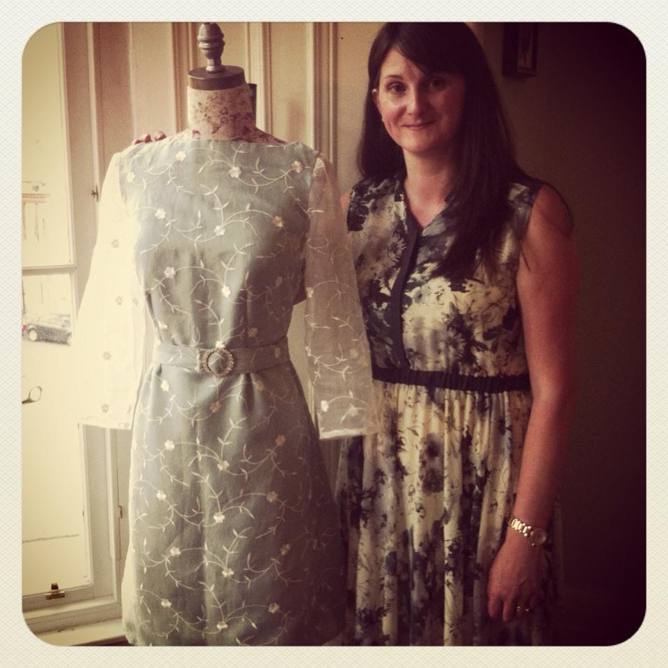 Amanda and her 'Peony' dress from  Colette Patterns.
