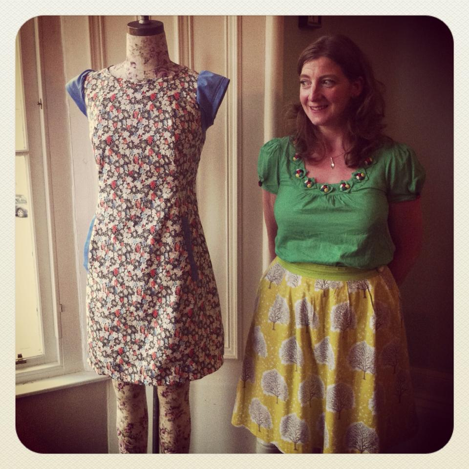 Geraldine and her 'Chloe' Dress from  Victory Patterns.