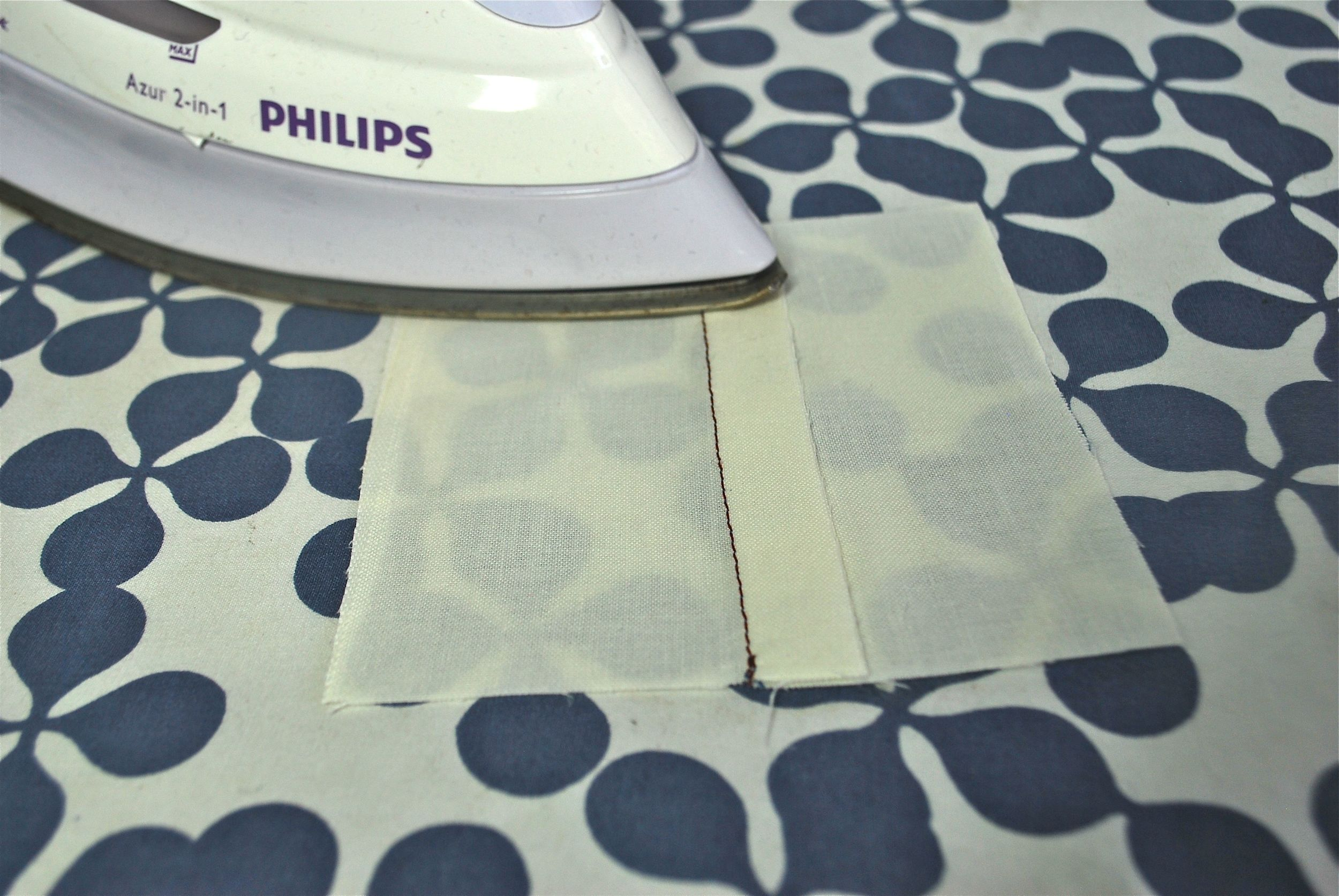 First Press - Pressing your seams to the a side.